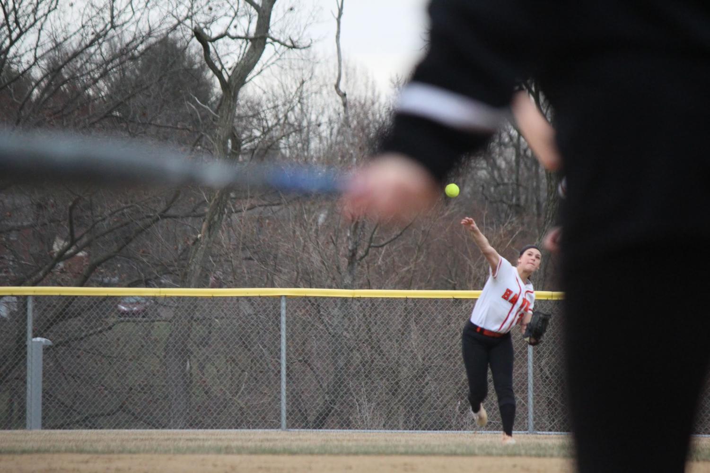 Softball team defeats Allderdice, 15-0, on March 28.