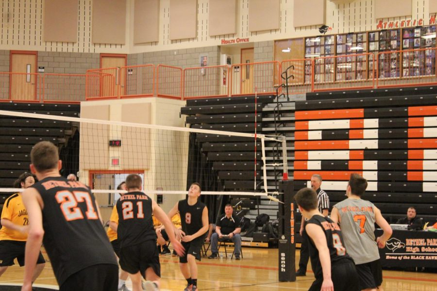 Hawks volley Thomas Jefferson on March 22.