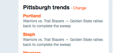 What's #trending in da Burgh today?