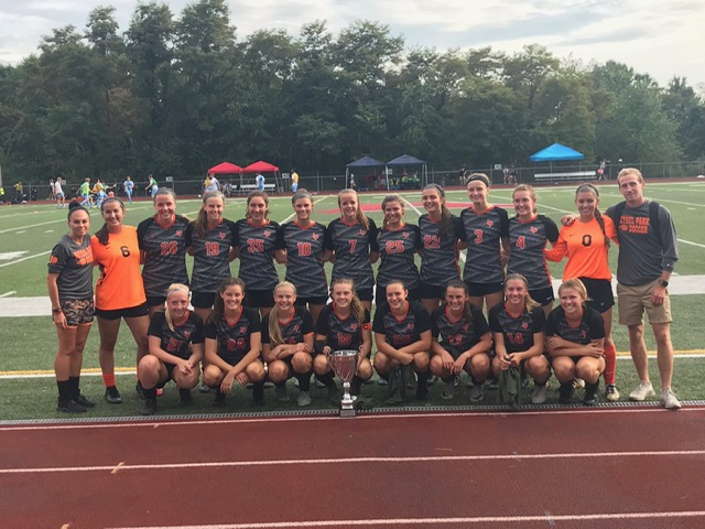 Lady+Hawks+pose+with+the+Lopes+Cup+Sunday%2C+Sept.+1+after+their+6-0+victory+in+the+championship+match+over+TJ+to+defend+their+title+at+the+Avonworth+Tournament.