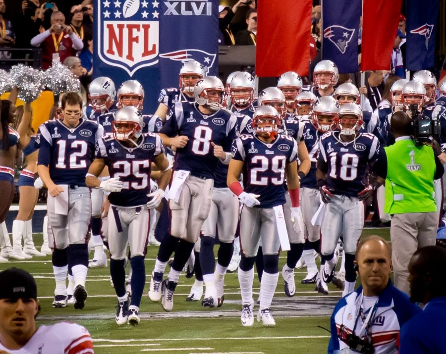 New England Patriots grand entrance.