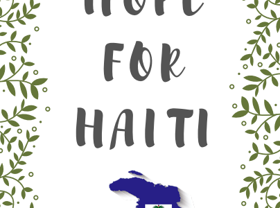 Hope for Haiti buckets are available for donations in the foreign language rooms all week.