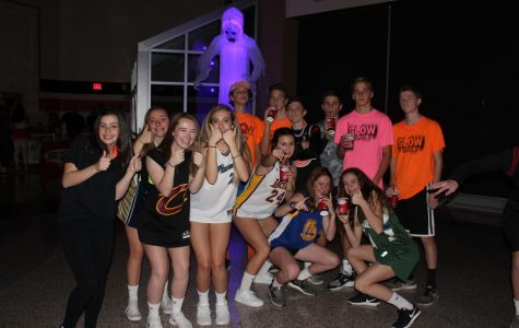 Students pose for a group pic at last year's Ghoul Fest dance.