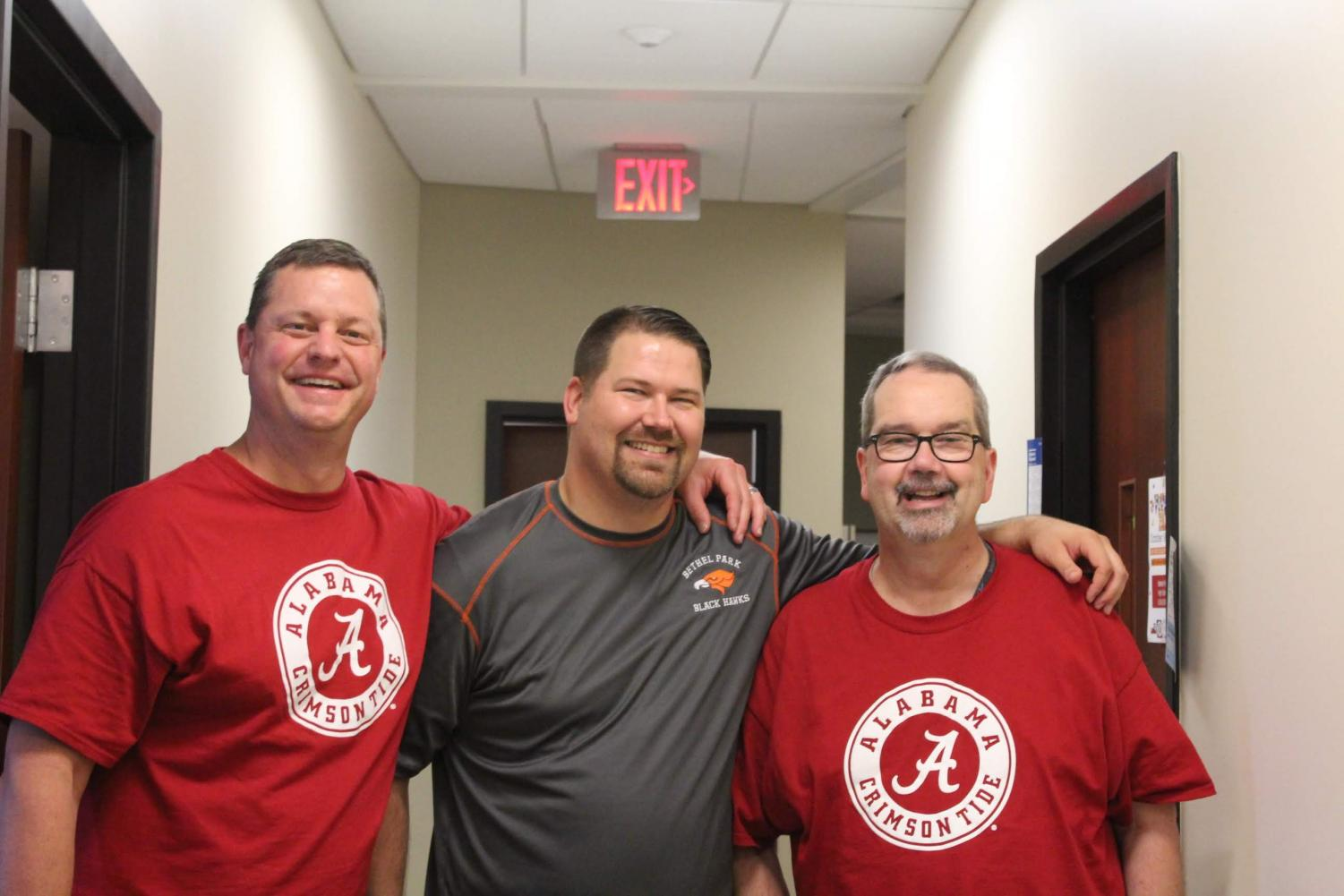 Mr. Knapp poses for a pic with Mr. Bruce and Mr. Jones.