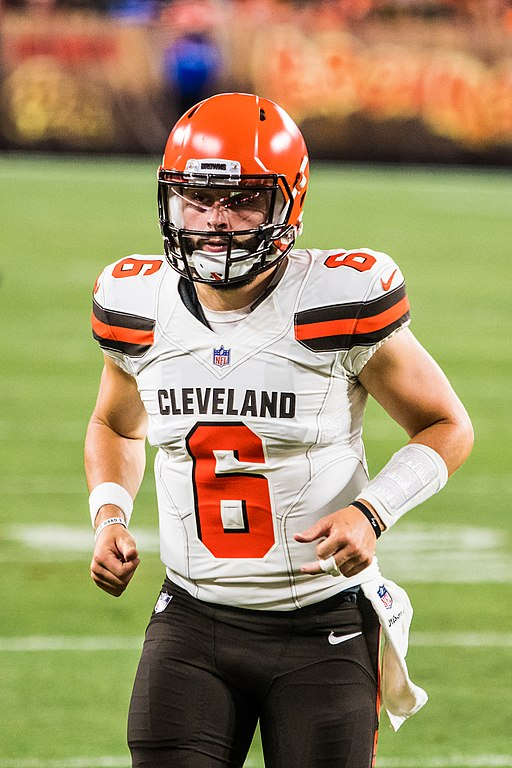 Baker Mayfield in the Browns preseason game vs. the Bills on Aug. 17, 2018.