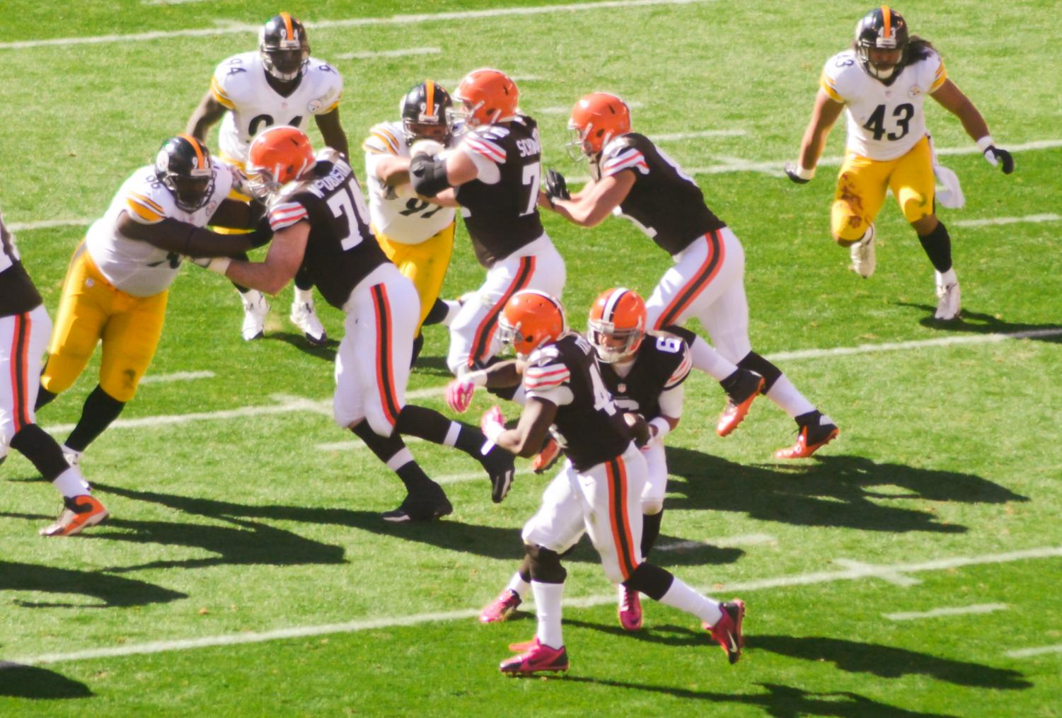 Steelers, Browns battle it out in Cleveland in 2014. The Browns won 31-10.