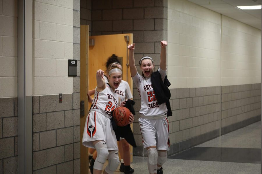Liv Westphal and Juliana Carbone are ecstatic after the win.