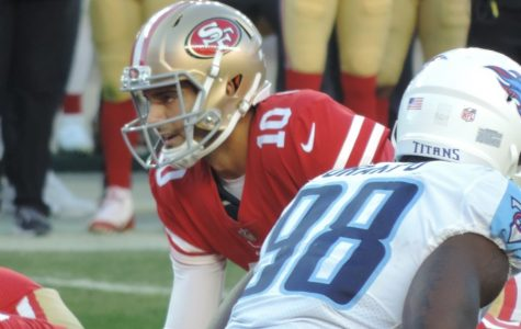 Quarterback Jimmy Garoppolo plays in the 49ers game vs. the Titans on Dec. 17, 2017. The 49ers won 25-23.