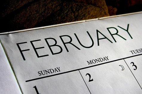 The calendar month of February in high resolution.