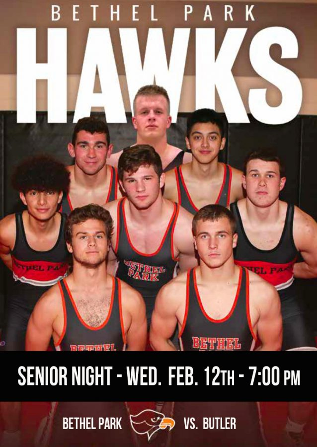 The Hawks will recognize their eight seniors--Parker Loera, Luke Montgomery, Riley O'Mara, Jacob Logan, Nate Currie, Anmar Alsaadi, Brandon Hartman and Ty Thimons-- on Senior Night on Feb. 12.