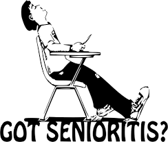 Black and white image of man having senioritis