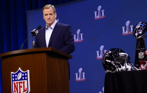 Roger Goodell taking questions at his State of the League press conference.
