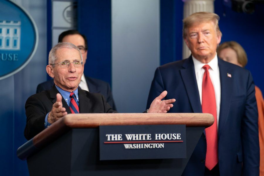 Dr.+Anthony+S.+Fauci%2C+director+of+the+National+Institute+of+Allergy+and+Infectious+Diseases%2C+and+a+member+of+the+White+House+Coronavirus+Task+Force%2C+responds+to+a+reporter%E2%80%99s+question+at+a+coronavirus+%28COVID-19%29+update+briefing+Wednesday%2C+March+25%2C+2020%2C+in+the+James+S.+Brady+Press+Briefing+Room+of+the+White+House.