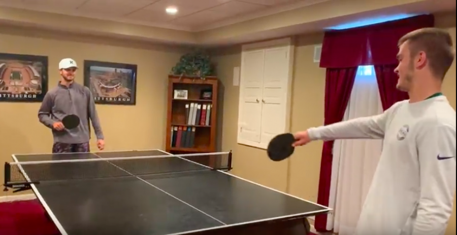 Ryan+Meis+picks+his+brother%27s+brain+as+they+play+a+little+ping-pong+at+home.