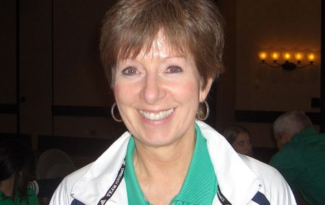 Photo of Muffet McGraw taken at the 2011 Women's basketball Coaches Association Convention in Indianapolis, Indiana.