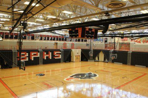 An empty BPHS gymnasium.