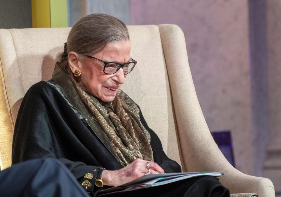 U. S. Supreme Court Justice Ruth Bader Ginsburg and LBJ Foundation President and CEO Mark K. Updegrove discuss the justice's trailblazing career at the Library of Congress in Washington, D.C., on Jan. 30, 2020. The LBJ Foundation presented Justice Ginsburg with the LBJ Liberty & Justice for All Award, which honors those who carry on President Lyndon Baines Johnson's legacy to right wrongs, champion justice, and serve humanity. (LBJ Foundation Photo/Jay Godwin)