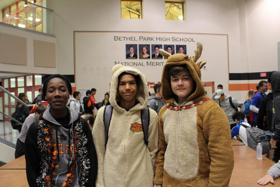 Students participate in the 2019 Halloween costume contest.