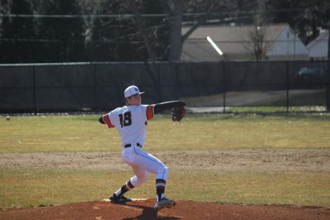 Eric Chalus, Jr. takes the mound during the Hawks