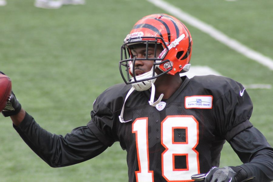 AJ Green at the Bengals training camp on Aug. 20, 2012.