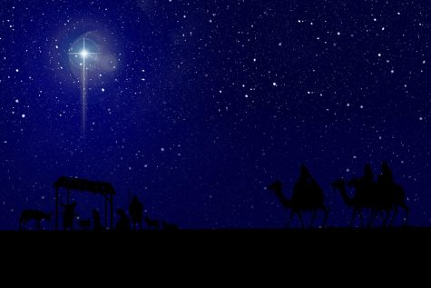 "The ""Star of Bethlehem"" led the three wise men to the newborn Jesus."