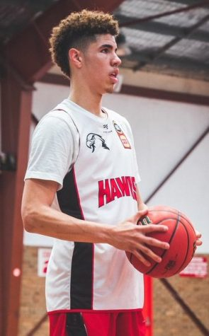 LaMelo Ball with the Illawarra Hawks in August 2019