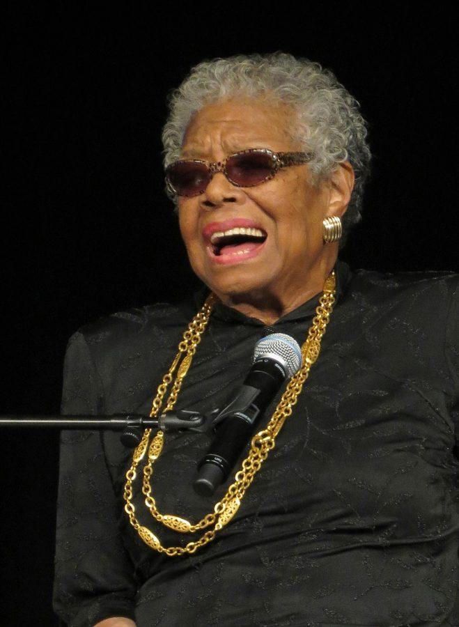 Maya Angelou at York College February 4, 2013.