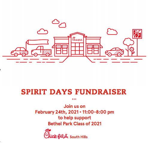 Support the BPHS Class of 2021 by ordering Chick-Fil-A on Wednesday, Feb. 24.
