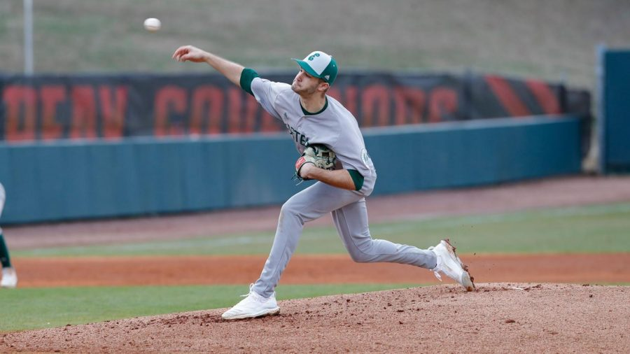 Justin Meis holds Mississippi State to its most consecutive scoreless innings this season.