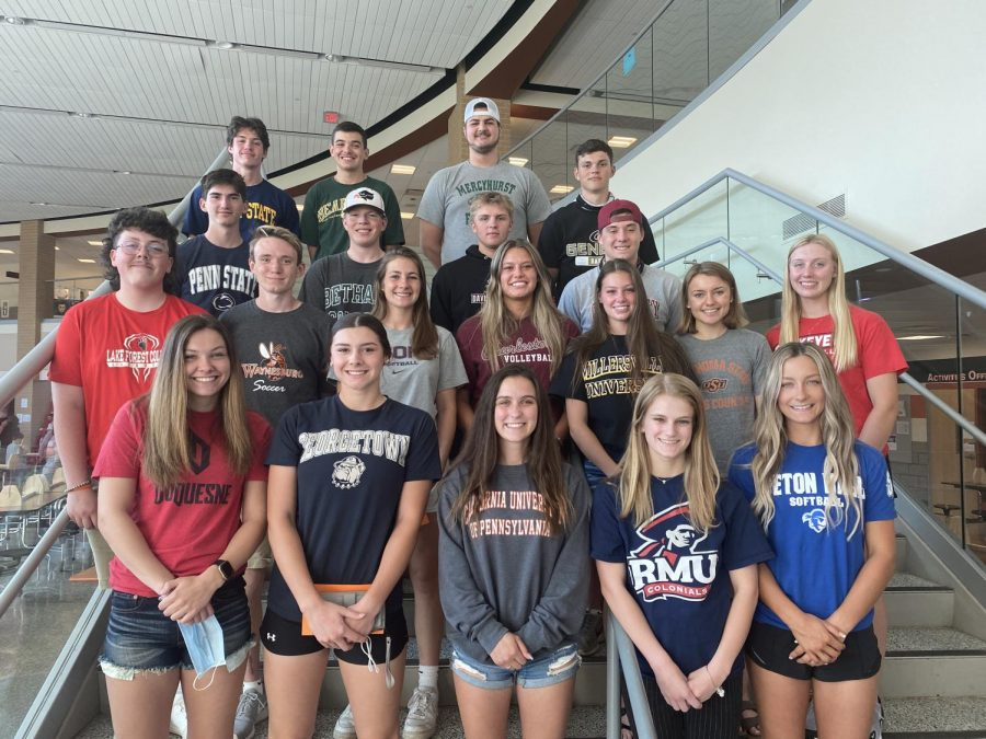 25 student-athletes were recognized at the annual College-Bound Student-Athlete Recognition Reception.