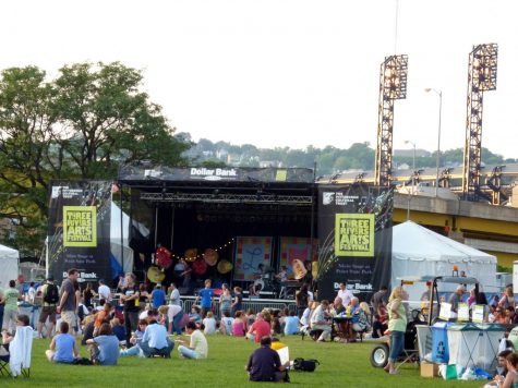The stage at the Three Rivers Arts Festival in 2010.