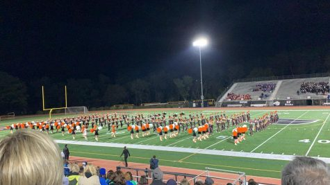Bethel Park Marching Band performing at the 52nd annual band festival in 2019.