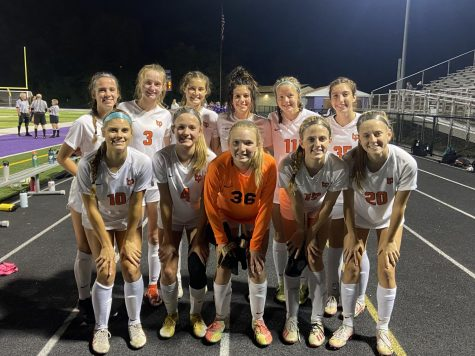 Lady Hawks are smiles after a dominating 9-0 victory over the Baldwin Highlanders. With the win, the Lady Hawks earned their spot in the playoffs.